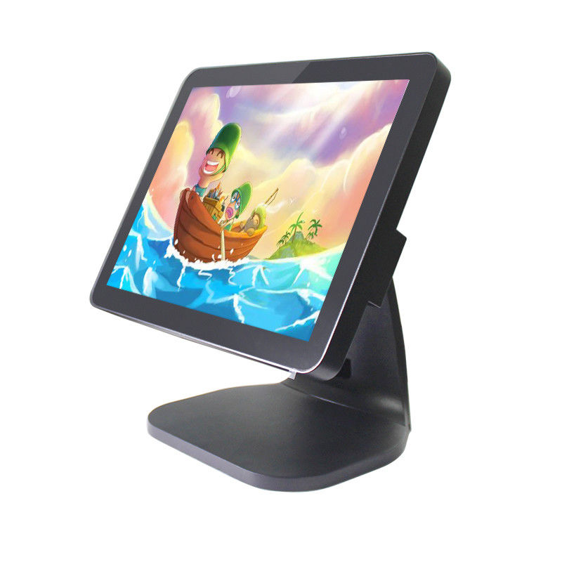 15 Inch Flat Pos System Touch Screen Monitor , Business Touch Screen Cash Register